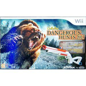 JEU WII CABELA DANGEROUS HUNTS 2012 + FUSIL / Jeu Wii