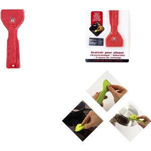 Voiture Nettoyage Miroir Autocollant Meterk Grattoir 2 pcs Grattoir Vitre Vitroceramique avec 20 Lames M/étalliques pour Plaque /à Induction