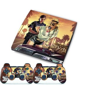 STICKER - SKIN CONSOLE Film GTA Autocollant Peau Pour PS3 Slim PlayStatio
