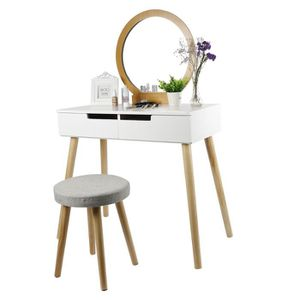 COIFFEUSE Royalbell® Coiffeuse Table de maquillage Romantiqu