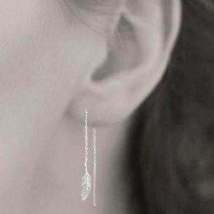 Paire de boucles d/'oreilles pendantes COEUR en ARGENT massif