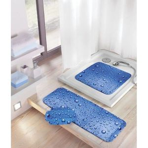 Kleine Wolke 5313769002 Bubble Tapis de Douche Antid/érapant Bleu 55 x 55 cm