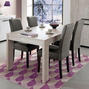 TABLE À MANGER SEULE Table 6/8 personnes JACOB coloris Valonia - Last M