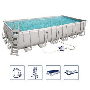 PISCINE Bestway Jeu de piscine Power Steel Rectangulaire 7