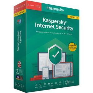 ANTIVIRUS KASPERSKY Internet Security 2020 Mise à jour, 1 po