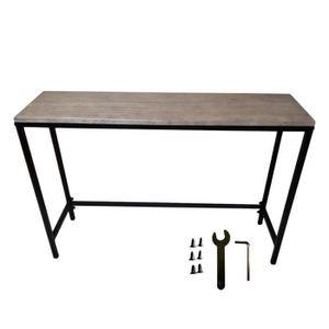 TABLE À MANGER SEULE Table industriel Avec serrure en chêne Planked et