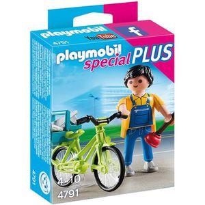 UNIVERS MINIATURE PLAYMOBIL 4791 Bricoleur avec matériel et vélo
