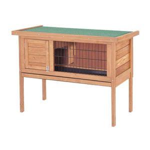 CLAPIER Clapier en bois pour lapin Basile 91,5x45x70 cm -