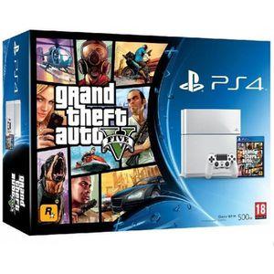 CONSOLE PS4 Console PS4 blanche - 500 Go + Jeu GTA 5