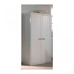 ARMOIRE DE CHAMBRE Armoire 2 portes bois blanc AR2016 - Terre de nuit