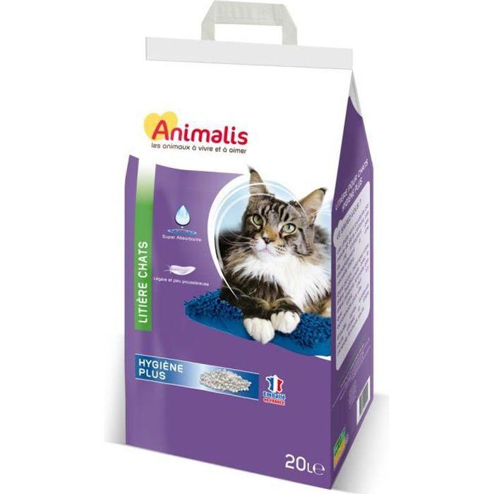 Animalis - Litière Hygiène Plus Minérale pour Chat - 20L