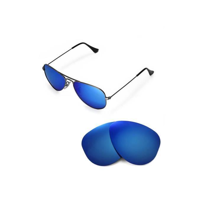 Lunettes De Soleil femmes Ice Blue Polarized Replacet Lentilles pour Ray-Ban Aviator RB3044 Petit Métal Lunettes de soleil de 52 mm