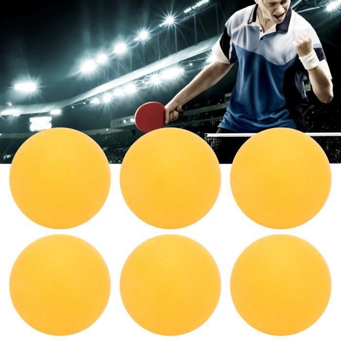 6Pcs-Jeu REGAIL Balles de Tennis de Table en Plastique ABS 3 Étoiles pour Sports Entraînement de Ping-Pong(jaune )-REN