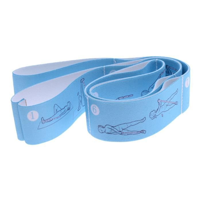 1 pièces bande d'étirement pliable multifonctionnel ceinture de Yoga pratique étendre la sangle pour remise en forme
