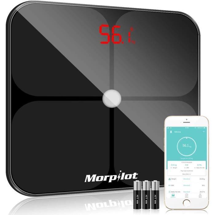 Pèse-personne morpilot Pèse Personne Impédancemètre,Balance Pèse-Personne Bluetooth,Balance Numérique avec 14 Données Co 586759