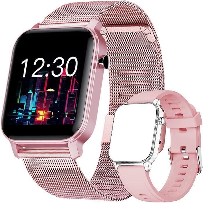 Montre Connectée Femme, Smartwatch Bluetooth 5.0 Tracker d'Activité avec Fréquence Cardiaque Podomètre Sommeil Contrôle de la 116