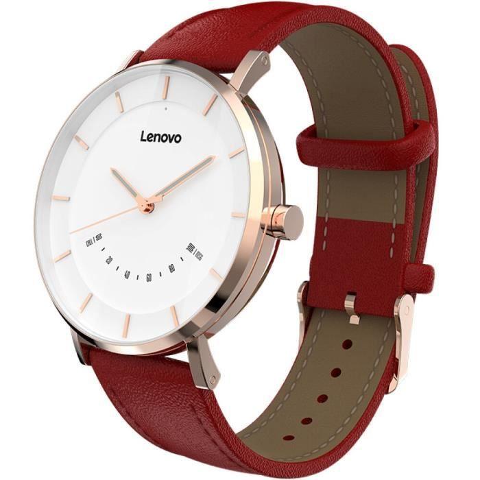 Nouveau Lenovo montre S Bracelet moniteur surveillance du sommeil Smartwatch connecter IOS Android bande - Type Watch-S-Rouge