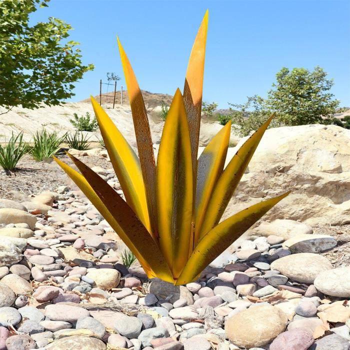 Objet Decoratif 11 -Metal Art Tequila Sculpture Rustique Jardin Yard Décor À La Maison 9 Feuilles LY878