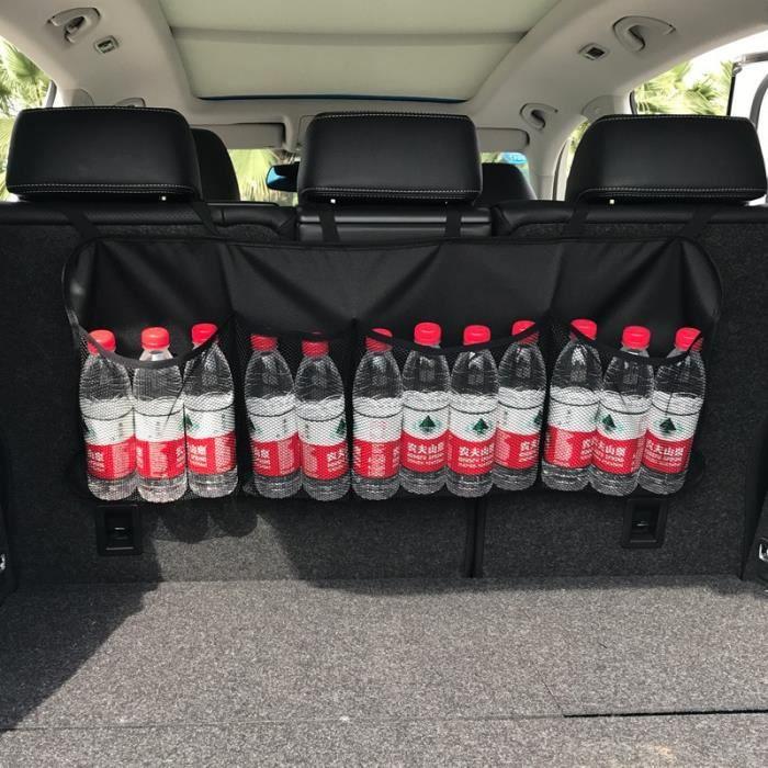 Rangement,Sac de rangement de siège arrière Sac de rangement de coffre de voiture, filet de rangement - Type Regula edition black