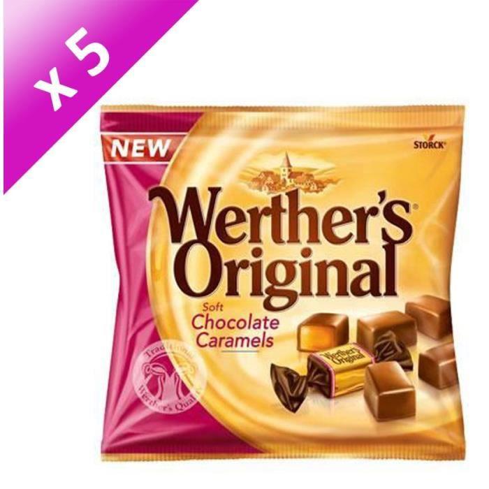 [LOT DE 5] WERTHER'S ORIGINAL Caramels tendres enrobés de chocolat au lait - 180 g