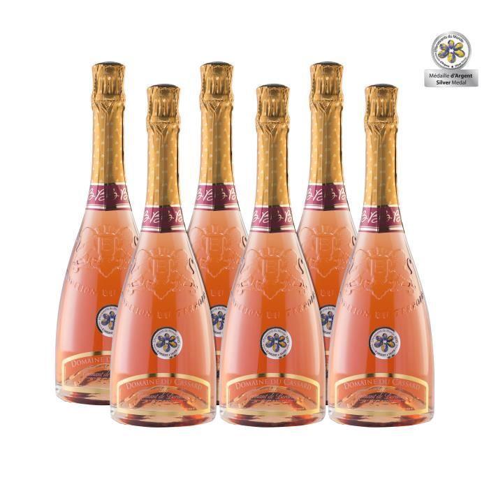 Lot de 6 bouteilles Crémant de Bordeaux Rosé Domaine du Cassard- Médaille d'argent au Concours de l'effervescent du Monde