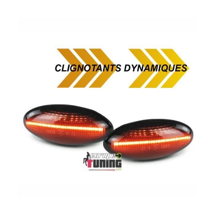 REPETITEURS NOIRS CLIGNOTANTS LEDS DYNAMIQUES PEUGEOT 206 307 ...CITROEN C2 C3 ...(05276)