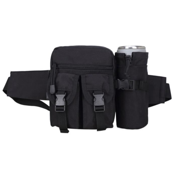 1Pc taille pack réglable Durable sac bouteille d'eau ceinture banane avec porte-bouteille pour la randonnée sportive SAC DE SPORT