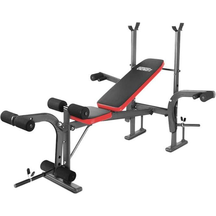 OneTwoFit 8 en 1 Banc de musculation Presse Multi Gym Home barbell rack Banc de Fitness OT039