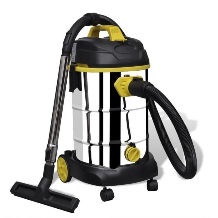 Aspirateur à nettoyage humide / sec 1380 W Aspirateur professionnel eau-poussière pour Maison et jardin