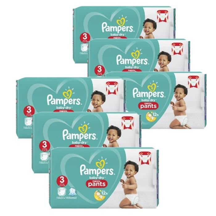 Pampers - 260 couches bébé Taille 3 baby dry pants