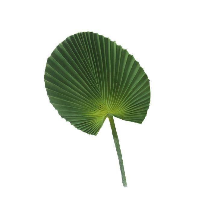 PU Simulation Feuille de palmier artificielle Tropical feuilles de palmier Creative bricolage Home Party Décor vert Plantes S