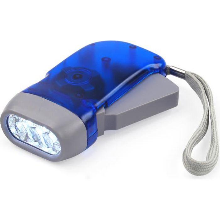 TRIXES Lampe torche à pression manuelle 3 LED sans pile écologique