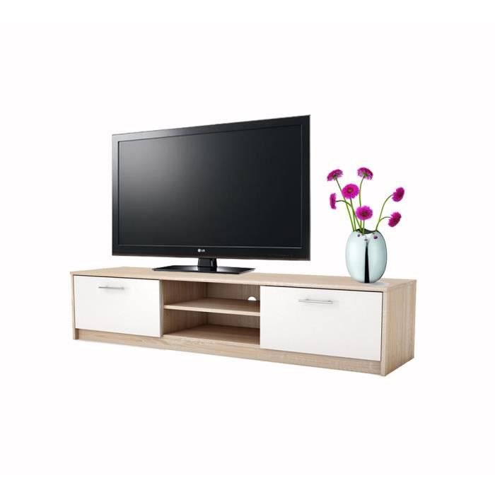 meuble tv ludvik ch ne 160 cm achat vente meuble tv meuble tv ludvik ch ne 160 cdiscount. Black Bedroom Furniture Sets. Home Design Ideas