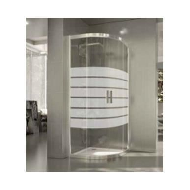 Cabine de douche arrondie delia seviban 90 x 90 cm decor for Carrelage 90 x 90