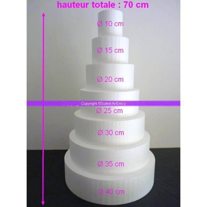 LePolystyr/ène Pi/èce mont/ée Disques Dummy /Ø 30//25 20//15 cm