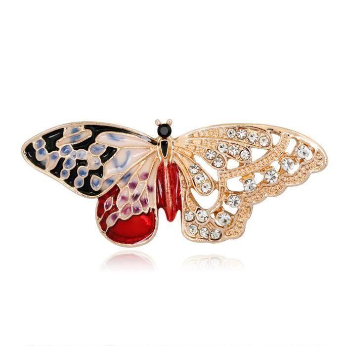 broches Broche breastpin pour les femmes mode cristal grand pendentif broche en strass Vintage libellule