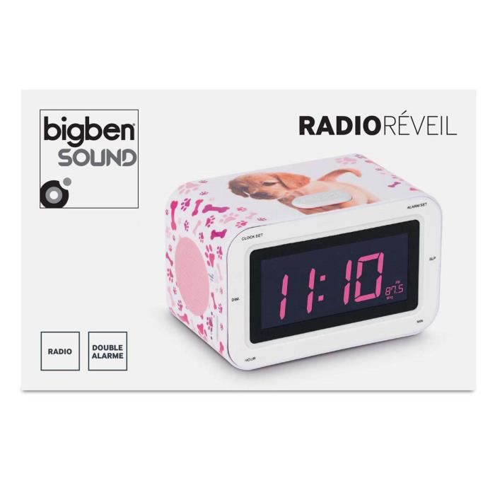 radio reveil motif chien radio r veil avis et prix pas cher cdiscount. Black Bedroom Furniture Sets. Home Design Ideas