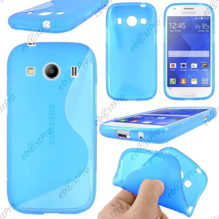 ebeststar coque s samsung galaxy ace 4 bleu film achat coque bumper pas cher avis et. Black Bedroom Furniture Sets. Home Design Ideas