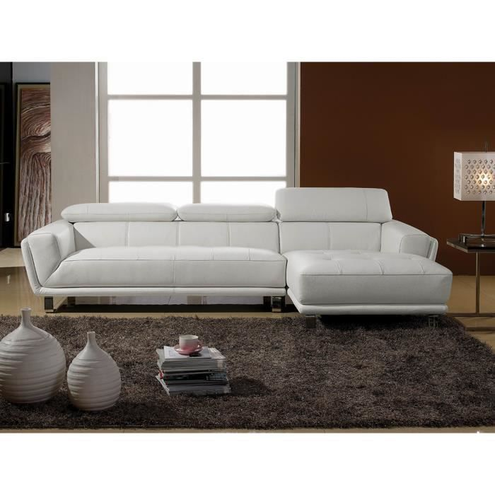 canap angle droit cuir beige celine achat vente canap sofa divan cuir polyur thane. Black Bedroom Furniture Sets. Home Design Ideas