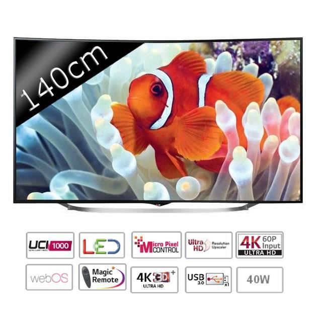 lg 55uc970v smart tv led curved uhd 4k 140cm 55. Black Bedroom Furniture Sets. Home Design Ideas