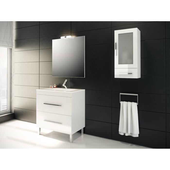 granada meuble de salle de bain blanc 80 cm vasque achat vente meuble vasque plan mennza. Black Bedroom Furniture Sets. Home Design Ideas