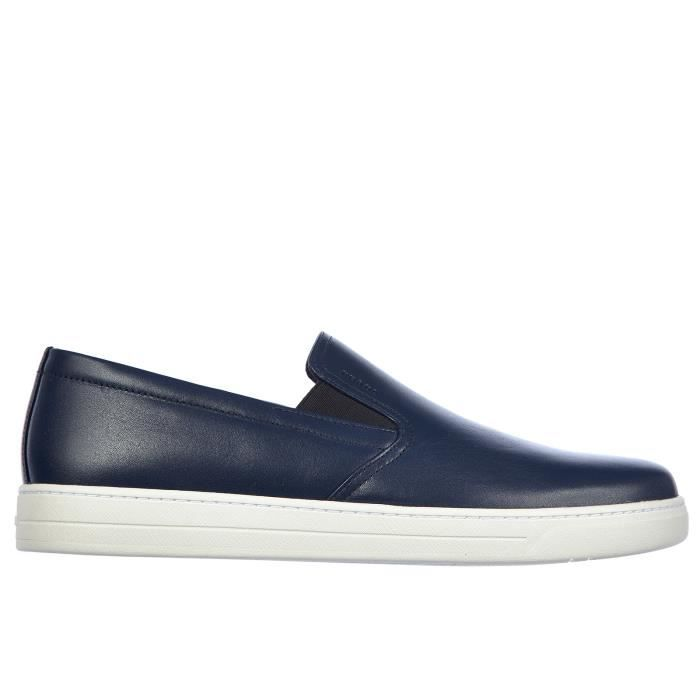 Slip on homme en cuir sneakersvitello plume Prada