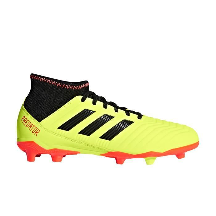 latest discount outlet save off Chaussures football adidas Predator 18.3 FG Jaune Junior