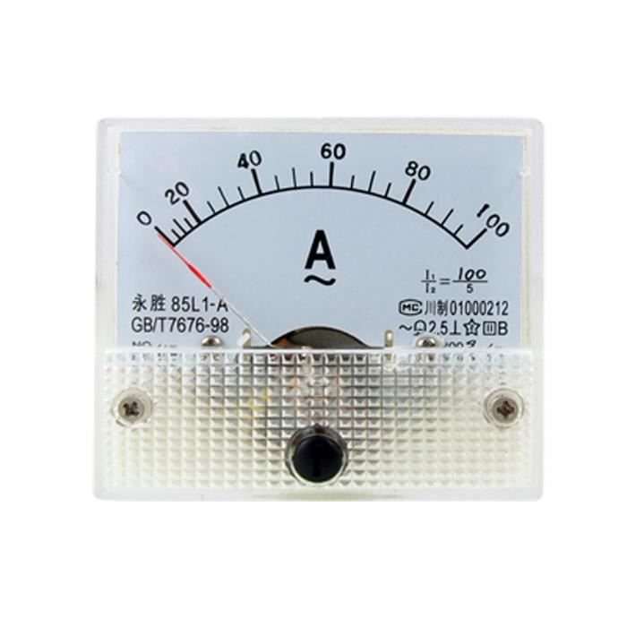 sourcing map Indicateur panneau Rectangle analogique actuel outil mesure amp/èrem/ètre AC 30A