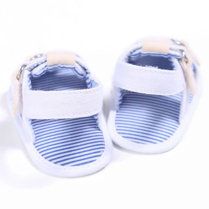 BOTTE Bébé Toddler Canvas Boys Cute Crib Chaussures T-attachées Soft Prewalker Soft Sandals@BlancHM