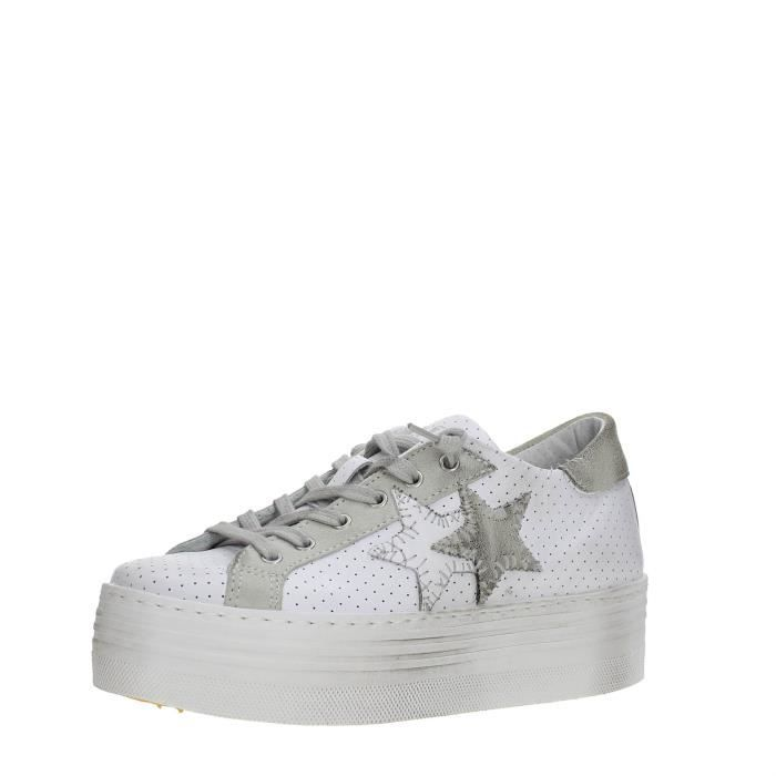 2 Star Sneakers Femme WHITE/GREY, 36