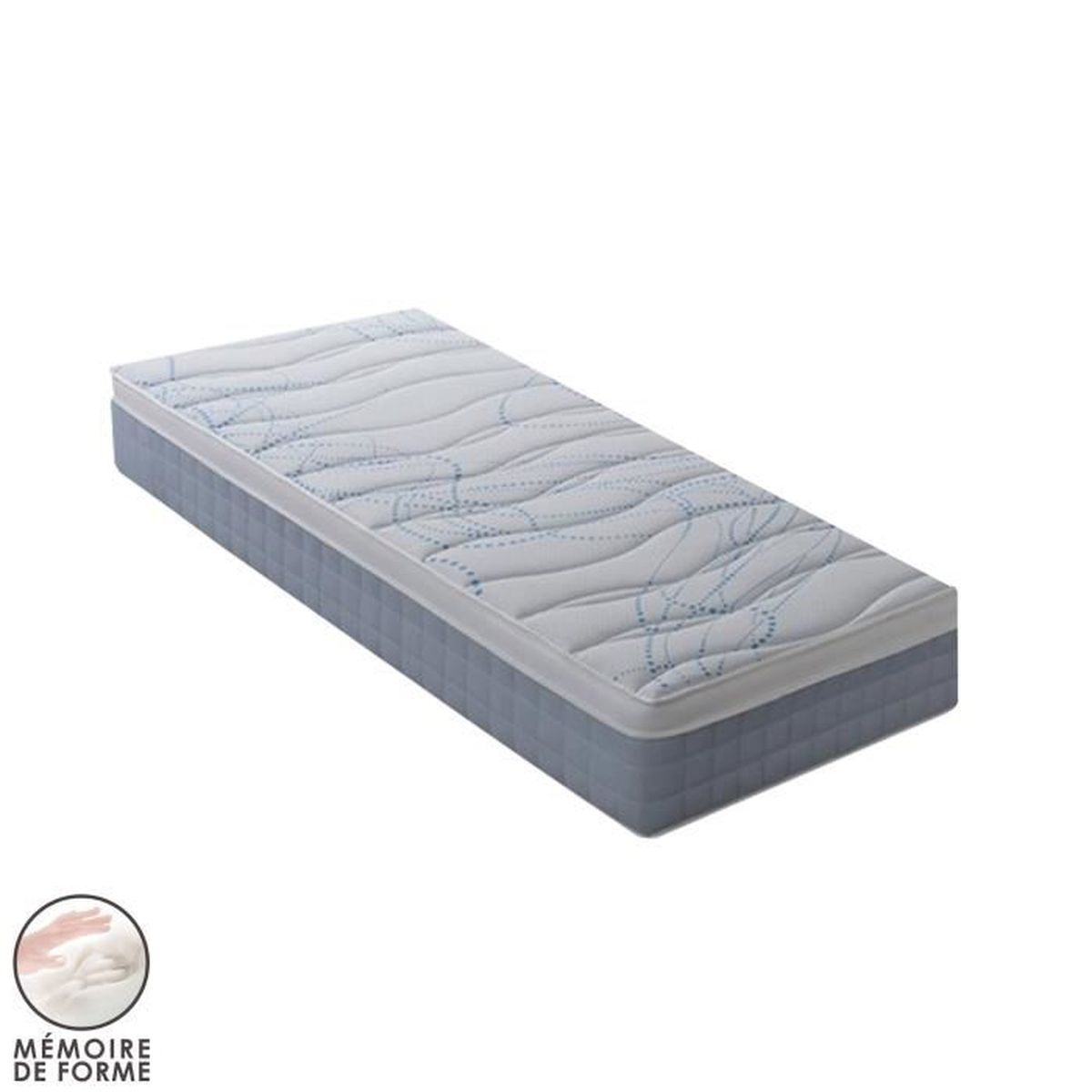 matelas m moire de forme 90x200 cm easypring achat vente matelas cdiscount. Black Bedroom Furniture Sets. Home Design Ideas