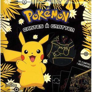 LIVRE LOISIRS CRÉATIFS Pokémon Cartes à gratter Pikachu. Avec 10 cartes,