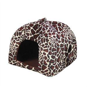 CORBEILLE - COUSSIN Tente en coton doux éponge chat chien maison dôme