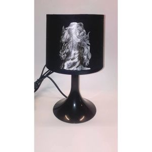 lampe de chevet noir et blanc achat vente lampe de. Black Bedroom Furniture Sets. Home Design Ideas